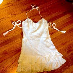 AE white eyelet halter dress